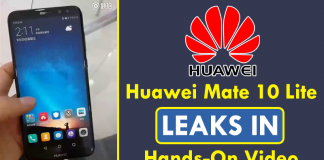 Huawei Mate 10 Lite Leaks In Hands-On Video