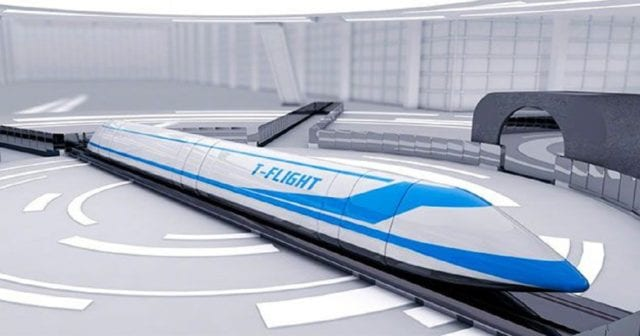IMG 1 2 - Flying Train At 4000 Kp/h: China Challenges Elon Musk's Hyperloop