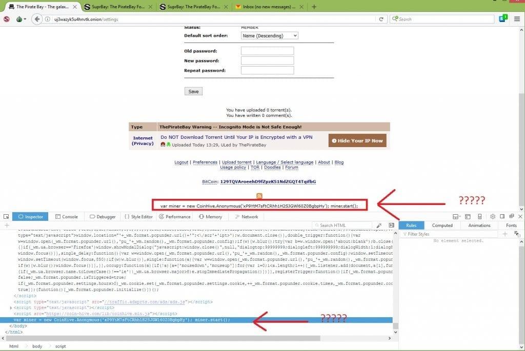 IMG 1 7 1024x685 - Beware! The Pirate Bay Hijacks Visitors' CPU Causing 100% Spikes