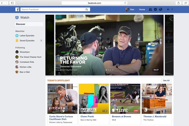 IMG - Facebook To Invest $1 Billion In Original TV Content For Watch