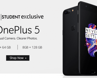 Now OnePlus 5 Costs Less If You Are A STUDENT