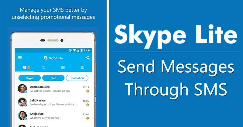 Now Skype Lite Will Allow You To Send Messages Through SMS