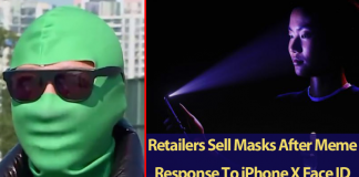 Retailers Sell Masks After Meme Response To iPhone X Face ID