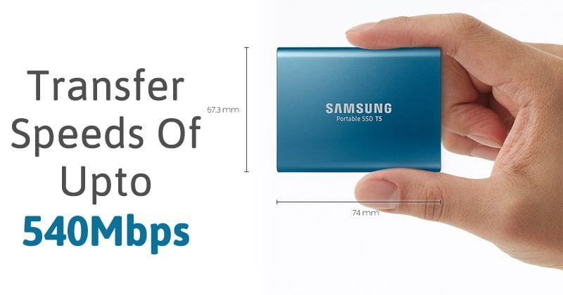 Samsung Portable SSD T5 Can Deliver Transfer Speeds Of Up to 540Mbps