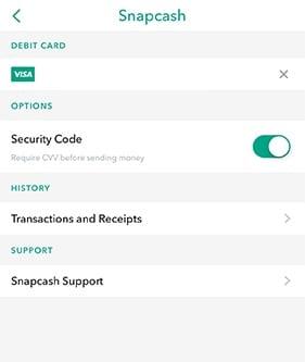 Setup Snapchat Snapcash