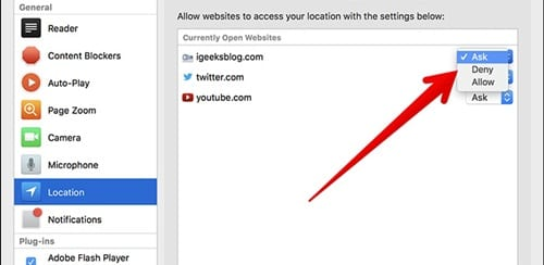 Stop Websites from Asking for Your Location