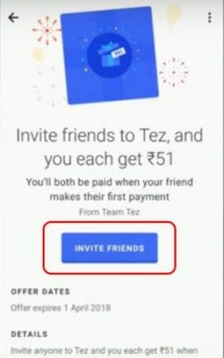 Tap On Invite Friends