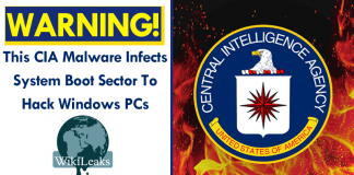 This CIA Malware Infects System Boot Sector To Hack Windows PCs
