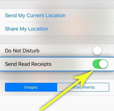 Turn iMessage Read Receipts On-Off Per Person