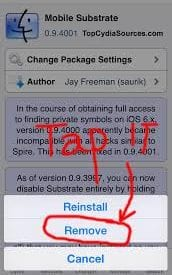 Uninstall Tweaks from Your Jailbroken iPhone