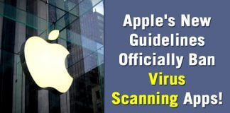 Apple's New Guidelines Officially Ban Virus Scanning Apps!