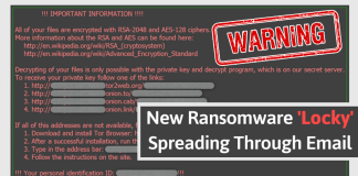 WARNING! Govt Issues Alert For Locky Ransomware Targeting Computers