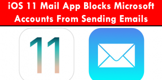 iOS 11 Mail App Blocks Microsoft Accounts From Sending Emails