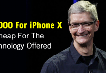 Tim Cook Says $1,000 For iPhone X Is Cheap For The Technology Offered