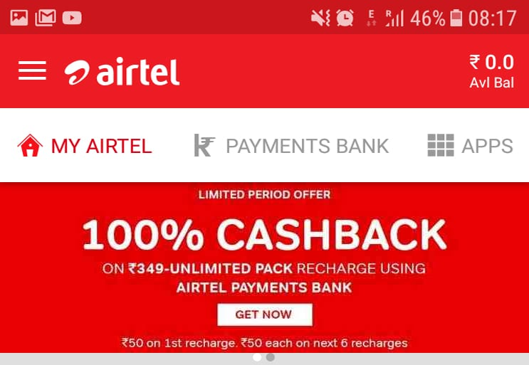 Airtel 2 - Here's How To Get Airtel's Rs 349 Plan For Free!