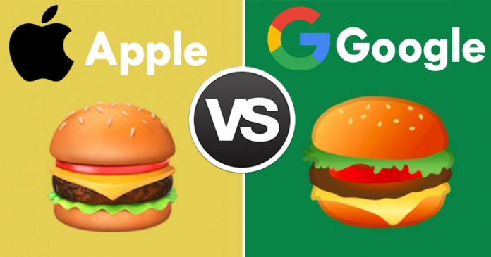 Apple vs Google: Apple & Google Can't Agree On Cheese Placement In Burger