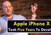 Jony Ive: Apple iPhone X Took Five Years To Develop
