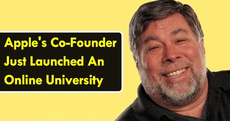 Apple's Co-Founder Just Launched An Online University