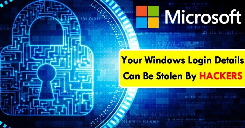 BEWARE! Your Windows Login Details Can Be Stolen By Hackers Without Your Interaction