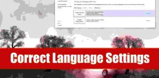 Correct Language Settings