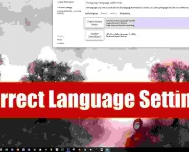 Correct Language Settings