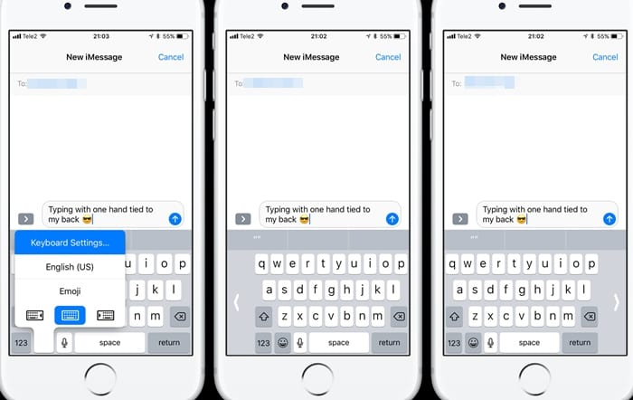 Enable One Handed Typing on Your iOS 11 Stock Keyboard