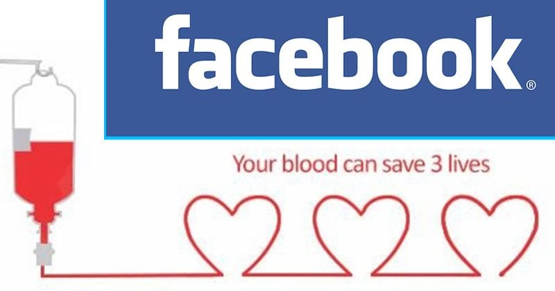Facebook Wants To Help You Donate Blood To The Needy