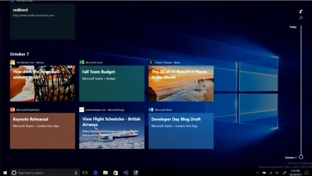 IMG 1 6 1024x576 - Windows 10's New Timeline Feature Is Coming To Windows Insiders