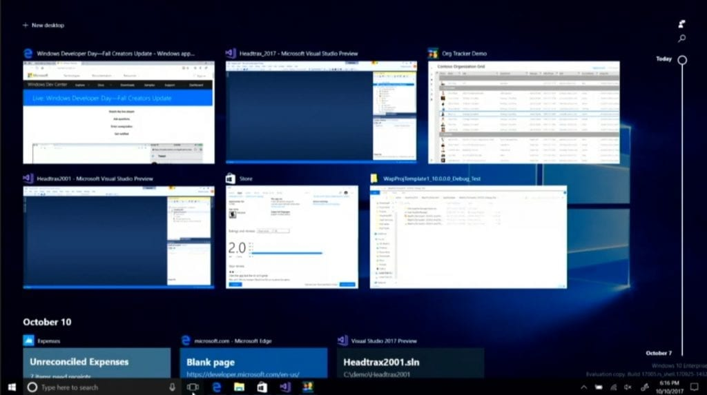 IMG 2 2 1024x573 - Windows 10's New Timeline Feature Is Coming To Windows Insiders