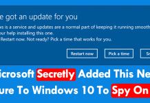 Microsoft Secretly Added This New Feature To Windows 10 To Spy On You