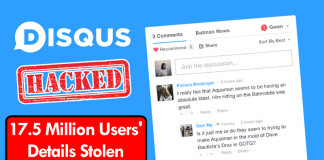 Disqus Hacked: More Than 17.5 Million Users' Details Stolen