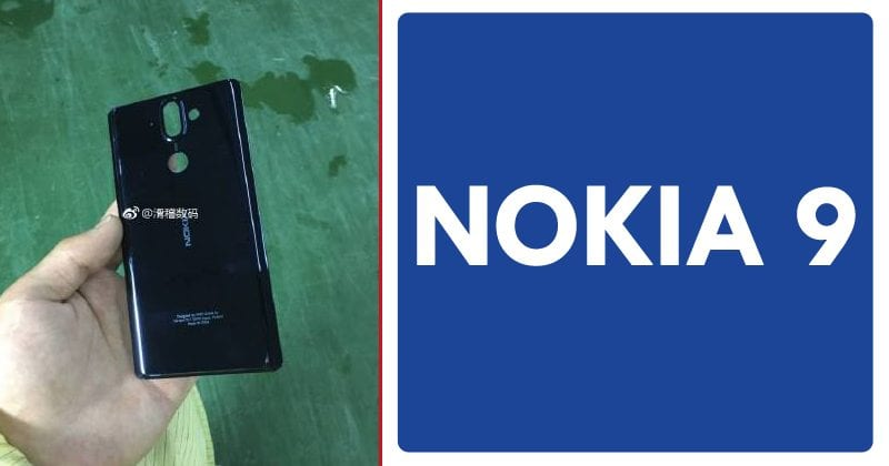 Nokia 9 Leaked Image Confirms Dual-Camera Setup, Rear-Mounted Fingerprint Reader