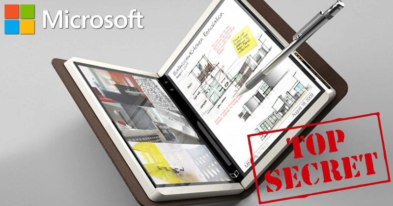 OMG! Microsoft Is Developing A Secret Foldable Tablet