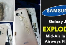 OMG! Samsung Galaxy J7 Explodes Mid-Air In Jet Airways Flight