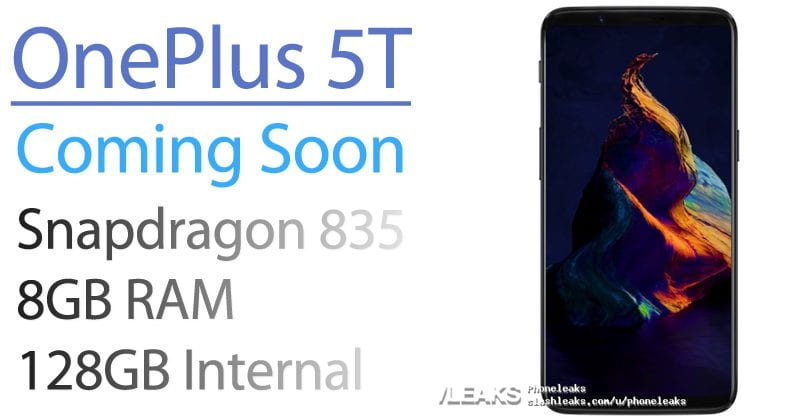 OnePlus 5T Coming Soon! Render Shows Galaxy S8-Like Design