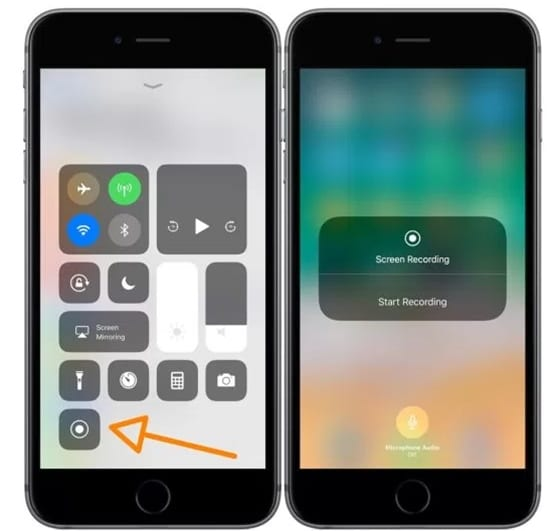 Record Screen With Audio On iOS 11