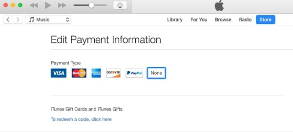 Remove Credit Card From iTunes