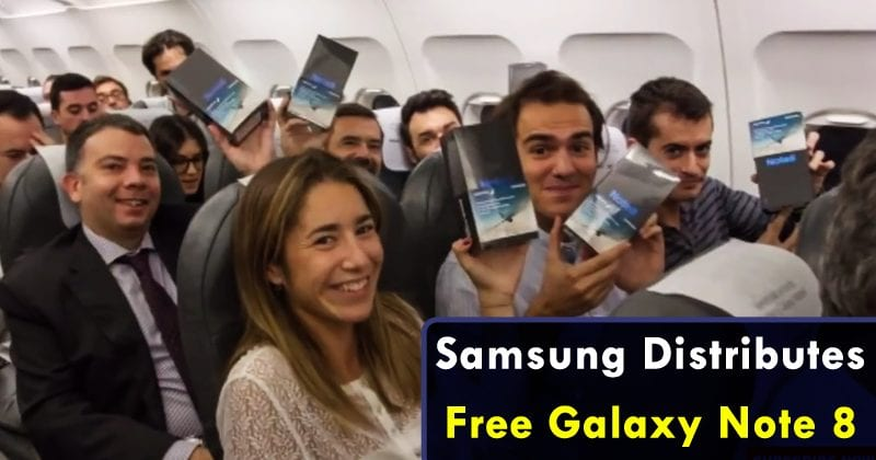 Samsung Distributes Free Galaxy Note 8 To ALL 200 Passengers On A Flight