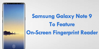 Samsung Galaxy Note 9 To Feature On-Screen Fingerprint Reader