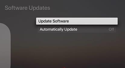 Update Your Apple TV to TVOS 11
