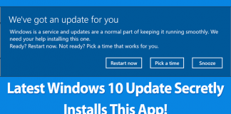 Latest Windows 10 Update Secretly Installs This App On Your Computer