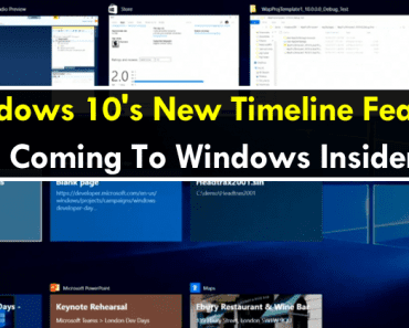 Windows 10's New Timeline Feature Is Coming To Windows Insiders