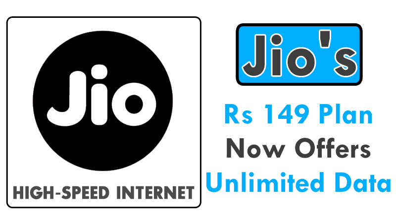 Wow Jio 39 S Rs 149 Plan Now Offers Unlimited Data