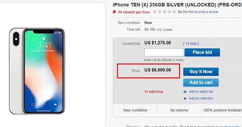 You Can Get iPhone X On The First Day For Just $6,000