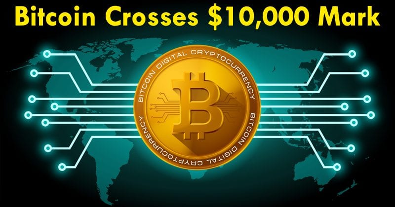 Bitcoin Crosses $10,000 To Reach A New All-Time High