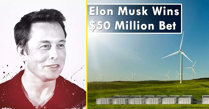 Elon Musk Wins $50 Million Bet for Building World's Largest Lithium-Ion Battery