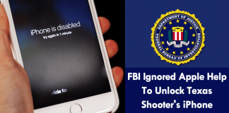 FBI Ignored Apple Help To Unlock Texas Shooter's iPhone
