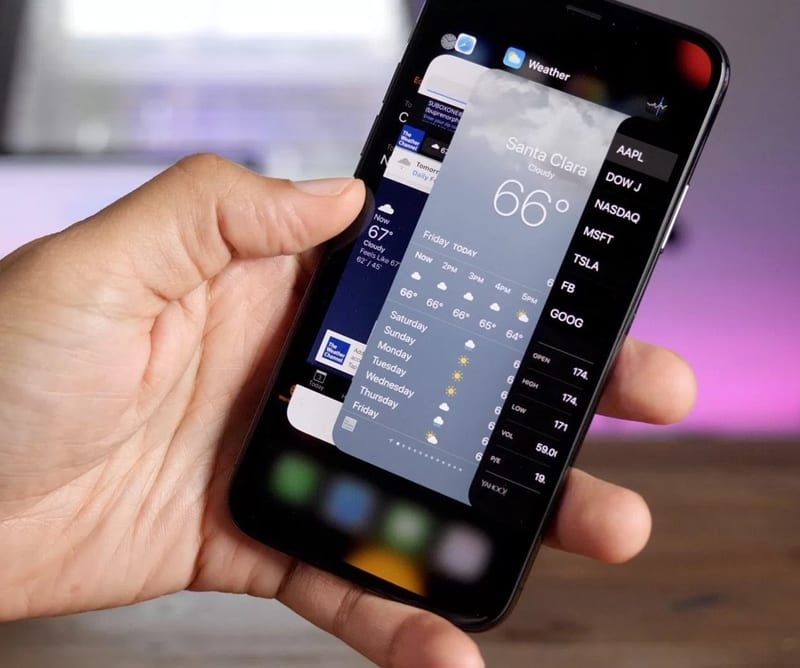 Force Close Running Apps on iPhone X