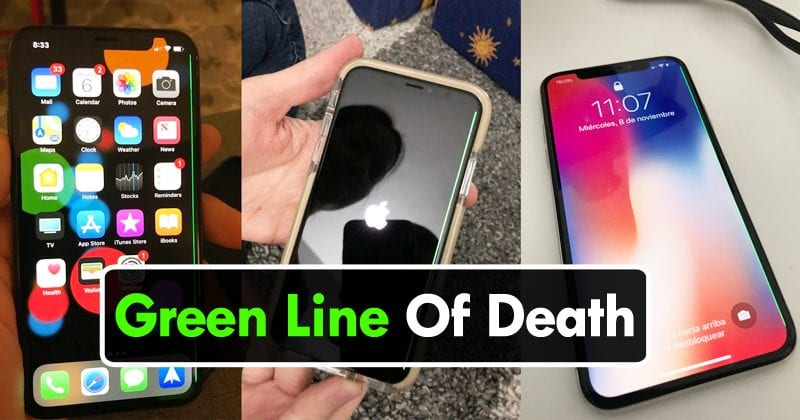 Apple iPhone X Issue: Green Line Of Death