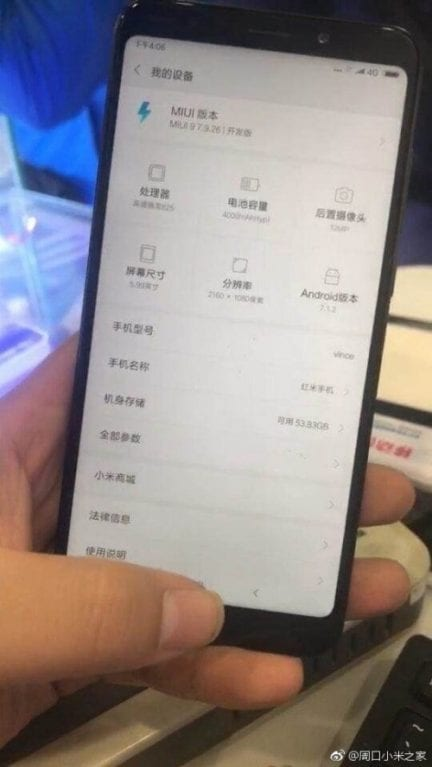IMG 1 8 - WoW! Real Life Redmi Note 5 Image Leaks, Confirms Phone's Specs